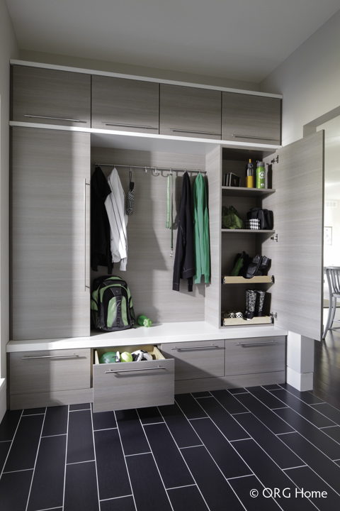 Custom Organized Entryway Storage
